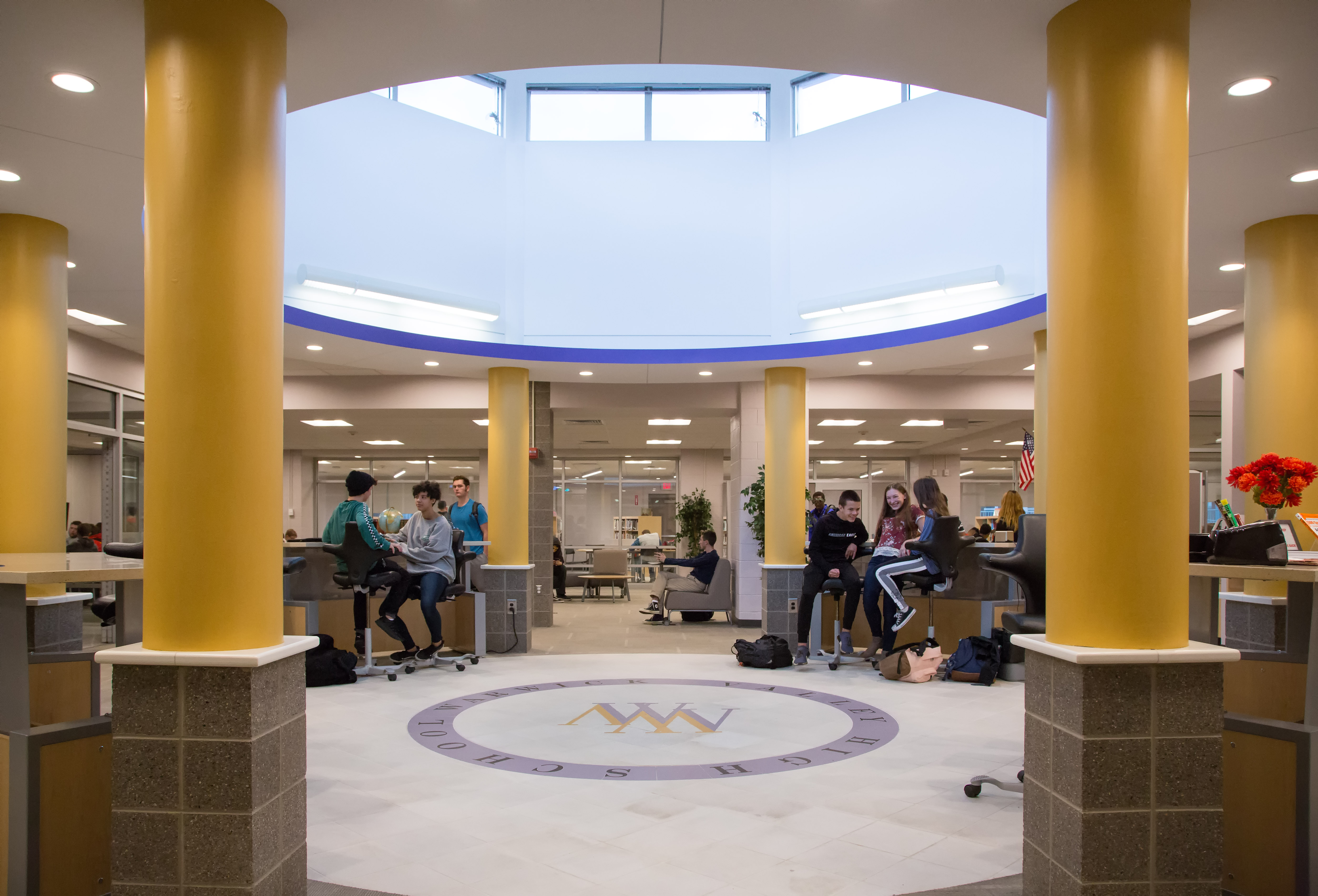 School entrance hallway